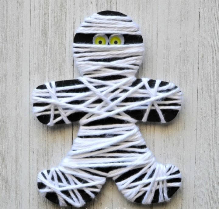 How To DIY Yarn Wrapped Mummy Craft