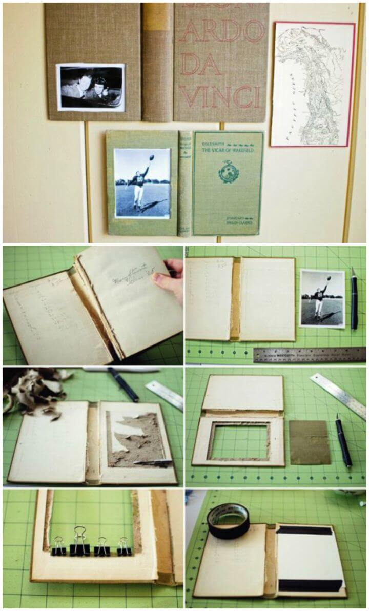 How To Make A Book Picture Frame