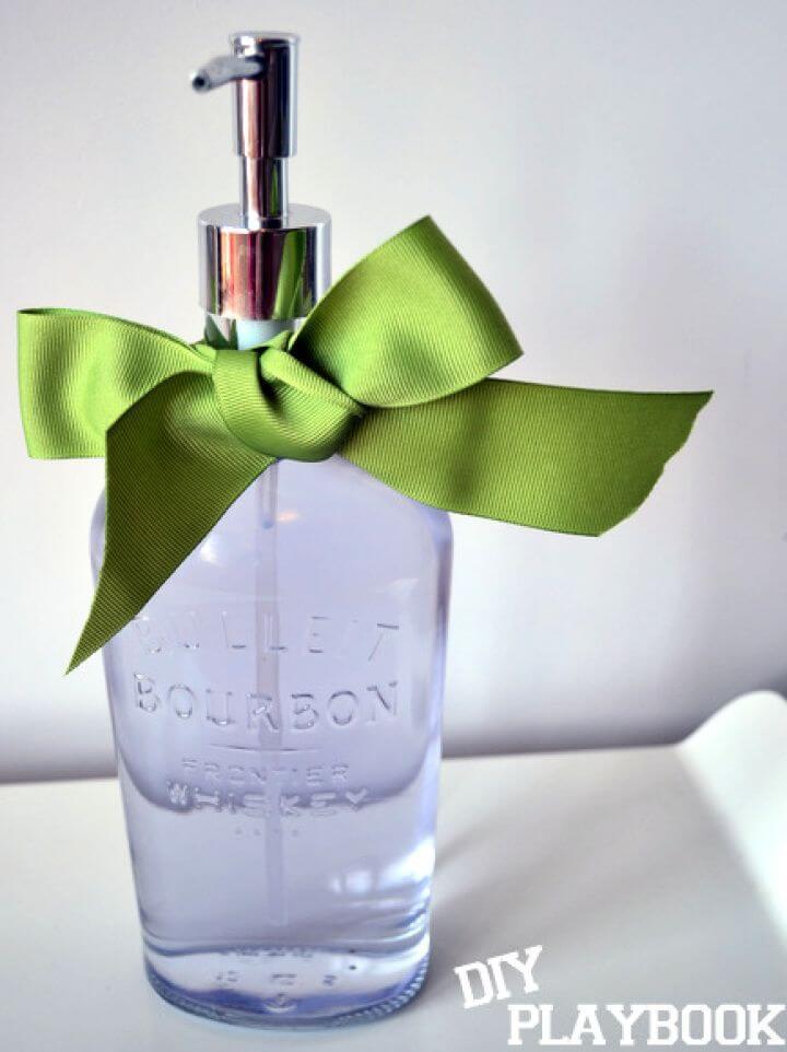 How To Make A DIY Bourbon Bottle Soap Dispenser