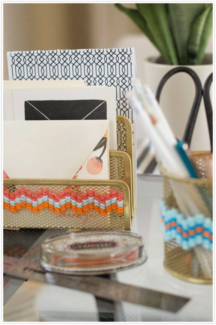 How To Make A DIY Cross Stitch Office Supplies