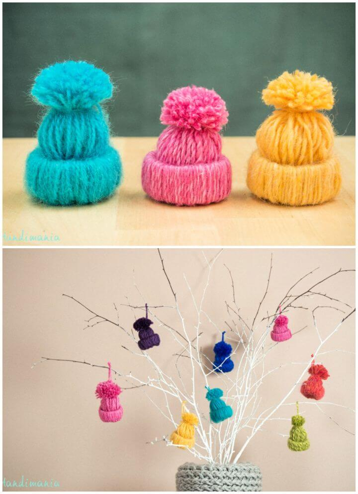 How To Make A DIY Little Yarn Hats