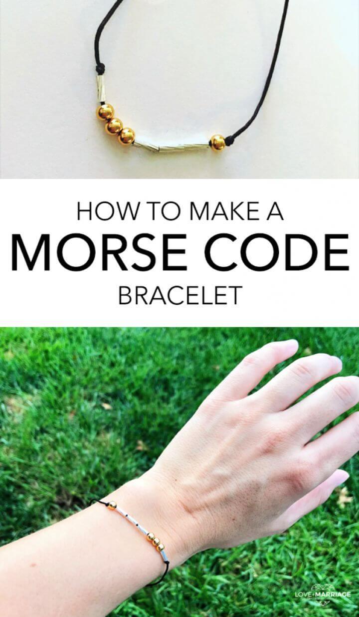 How To Make A DIY Morse Code Bracelet