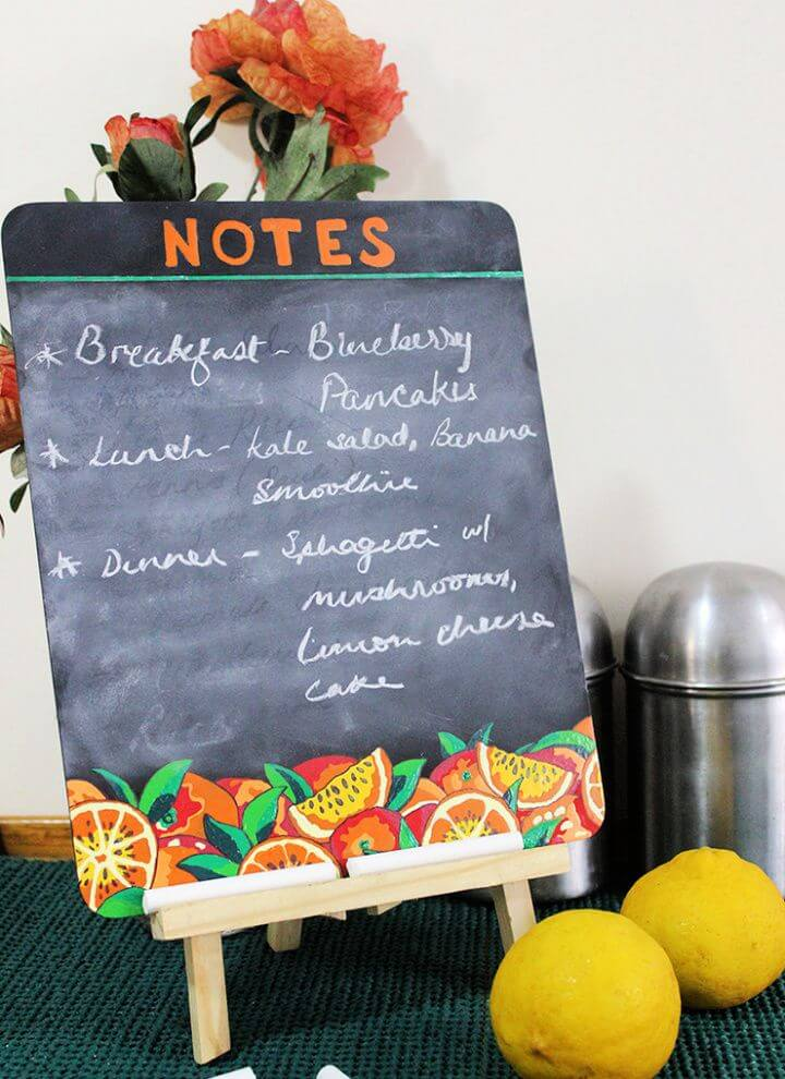 How To Make A Decorative Kitchen Chalkboard Paint