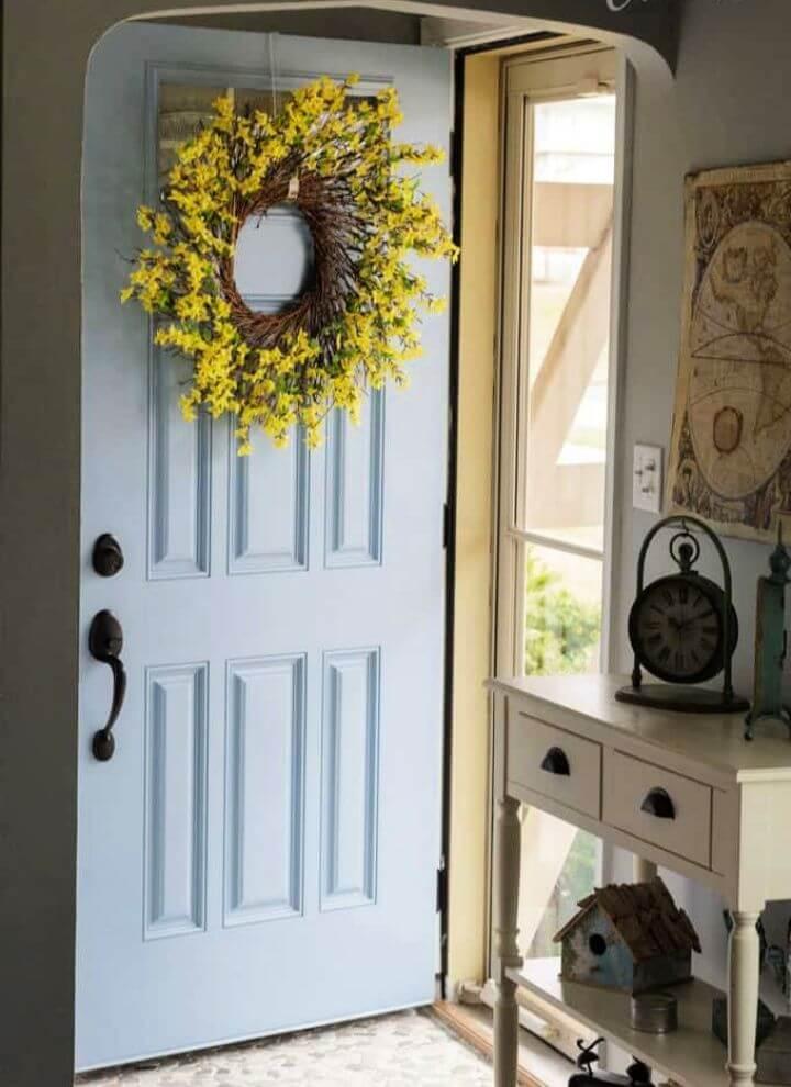 How To Make A Forsythia Summer Wreath