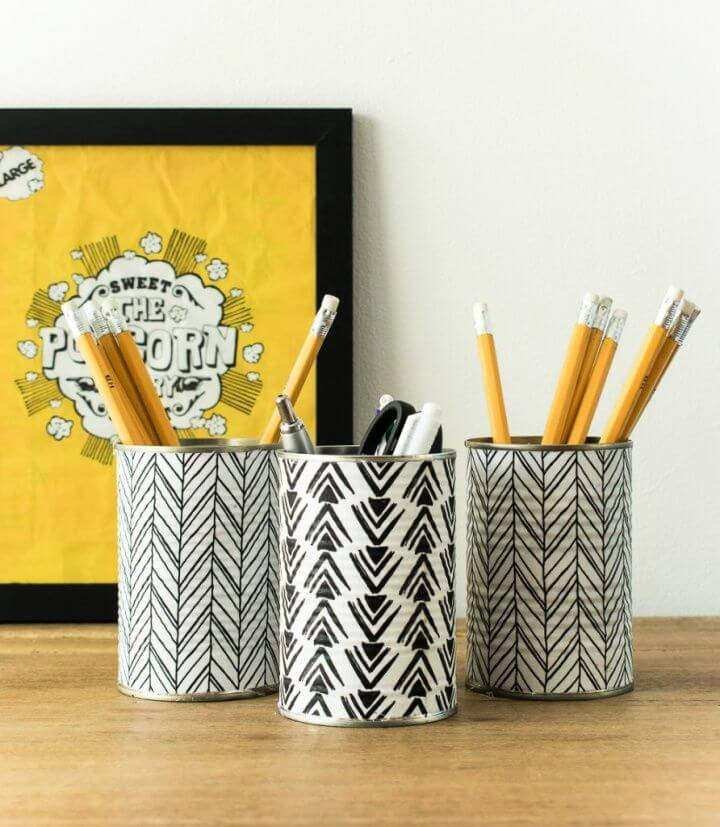 How To Make A Pencil Holder From Empty Tin Cans