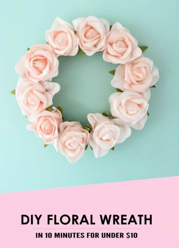 How To Make A Summer Wreath With Faux Flowers