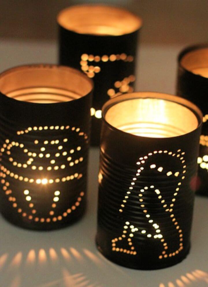 How To Make Star Wars Tin Can Lanterns