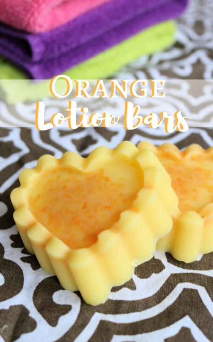 How To Make Your Own DIY Orange Lotion Bar