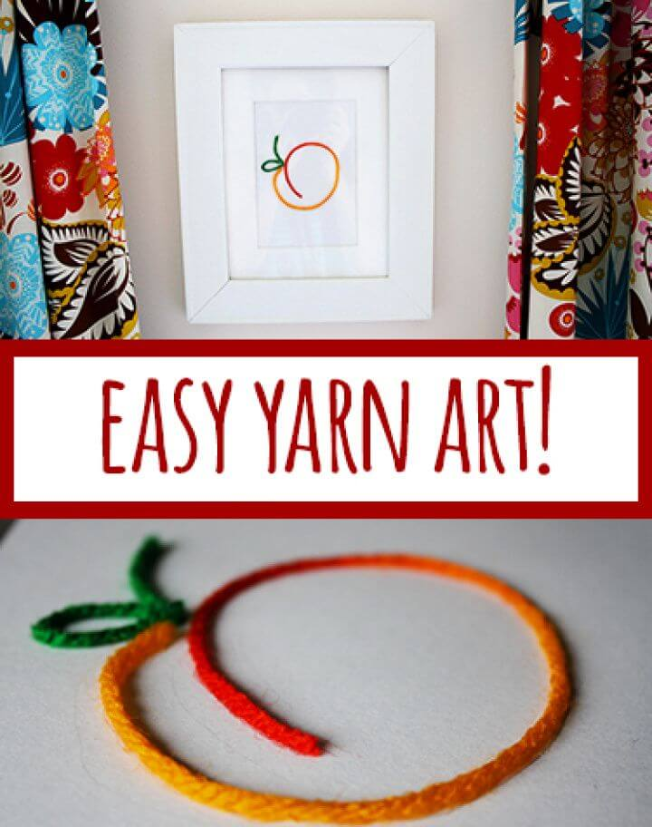 How To Make Your Own DIY Yarn Art Project