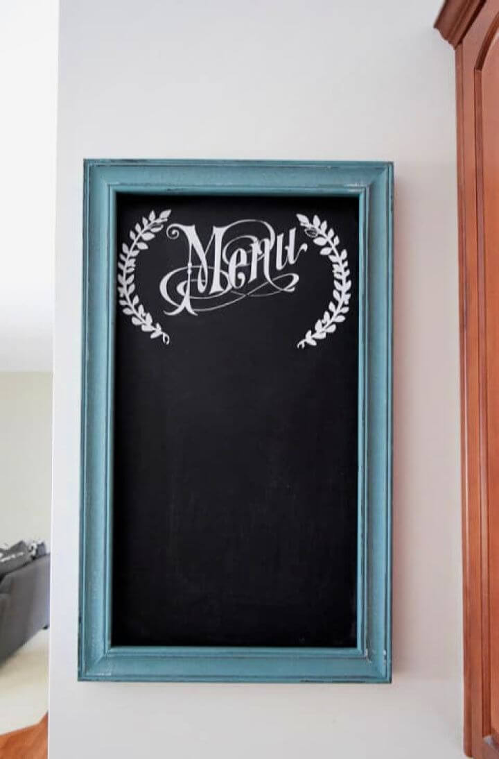 How To Paint A Menu Chalkboard For The Kitchen Wall