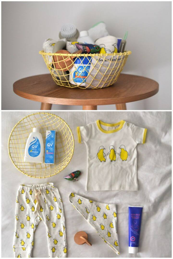 How To Put Together A DIY Baby Shower Gift Basket