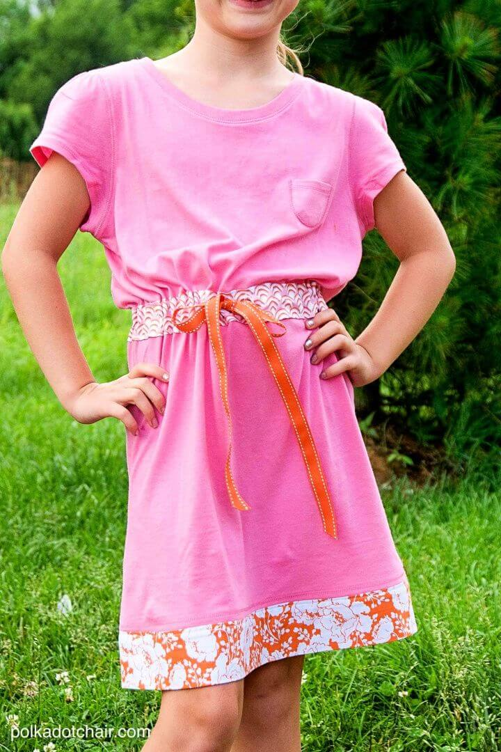 How To Sew A Summer Dress From 2 T Shirts