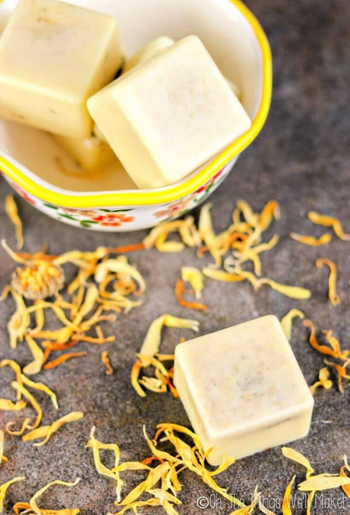 How to DIY Homemade Dandelion Lotion Bars