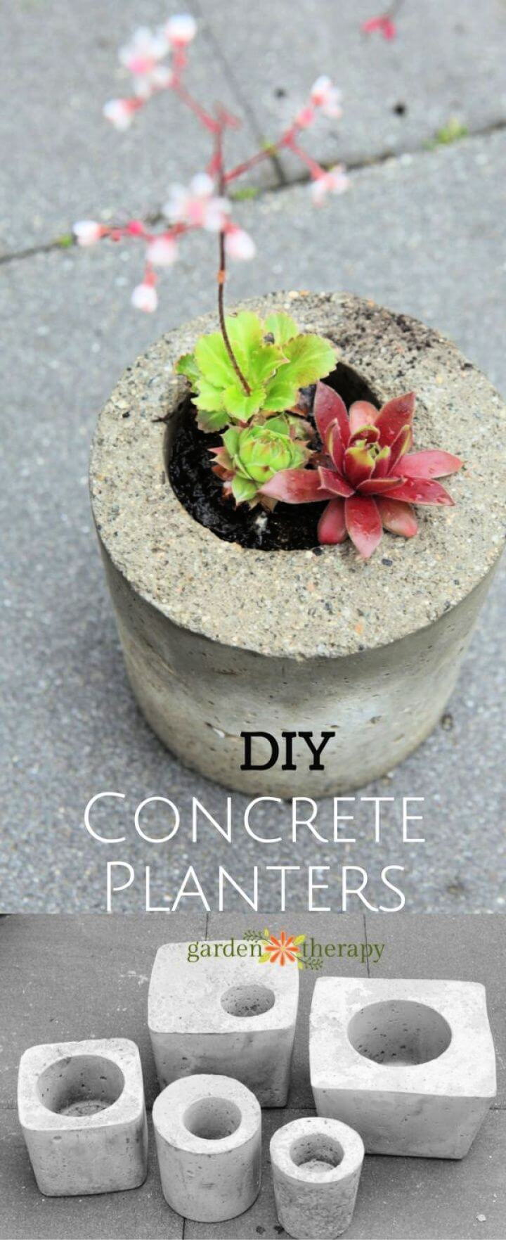 How to Make Concrete Planters