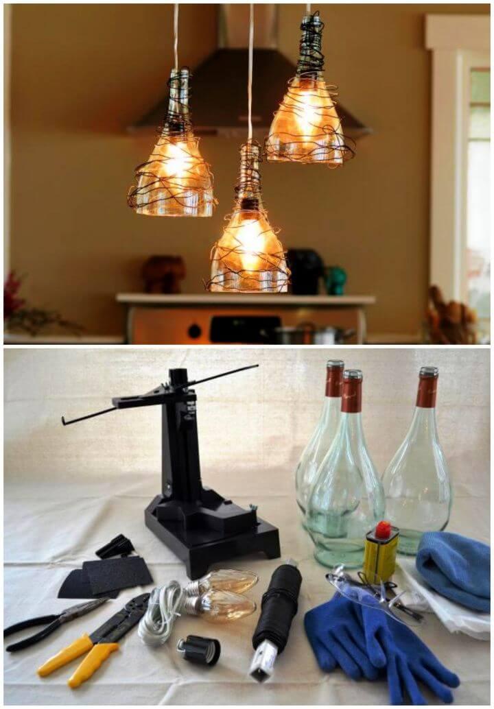 How to Make Wine Bottle Pendant Lights