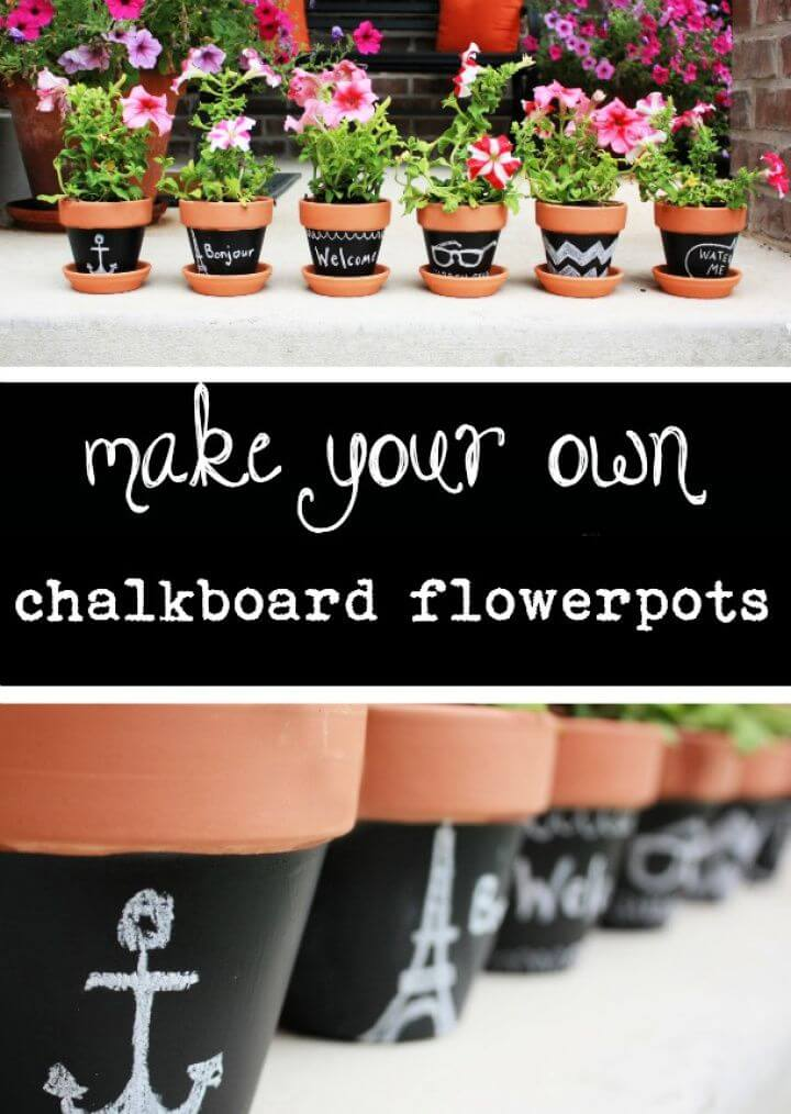 How to Make Your Own Chalkboard Flowerpots