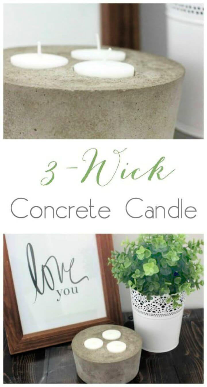 How to Make a Concrete Candle