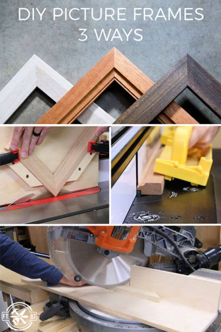 How to Make a Picture Frame 3 Ways