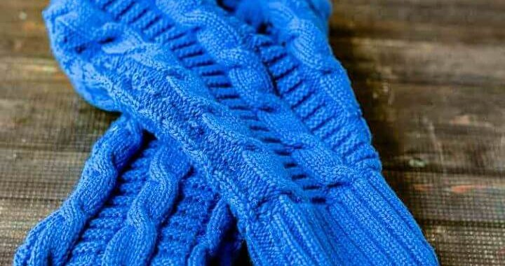 How to Make a Sweater Mittens and Headband Set