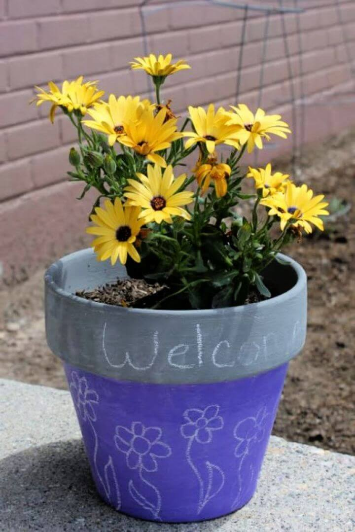 How to Paint a Chalkboard Flower Pot