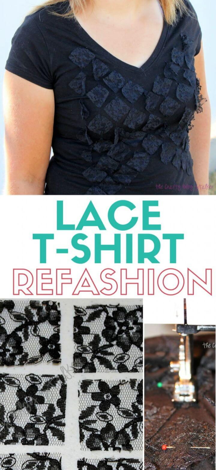 How to Sew a Lace T Shirt Refashion