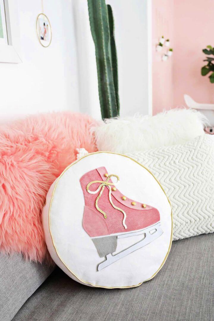 Ice Skate Pillow