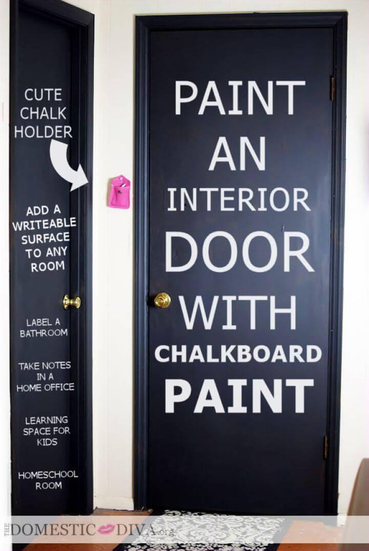 Interior Door Chalkboard