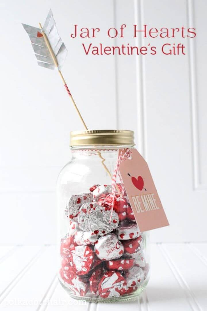 Jar Of Hearts Valentines Day Gift