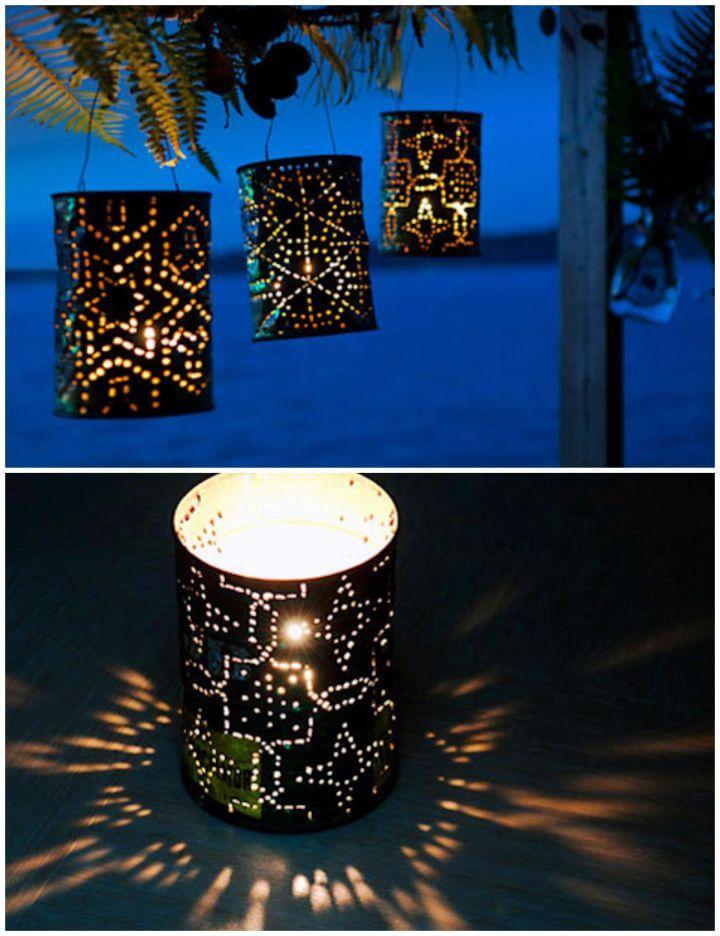 Karen's Coffee Can Lanterns