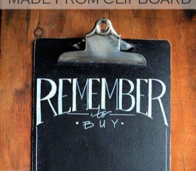 Kitchen Chalkboard Clip Boards