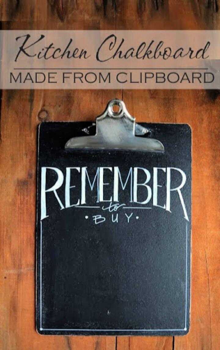 Kitchen Chalkboard Clip Boards