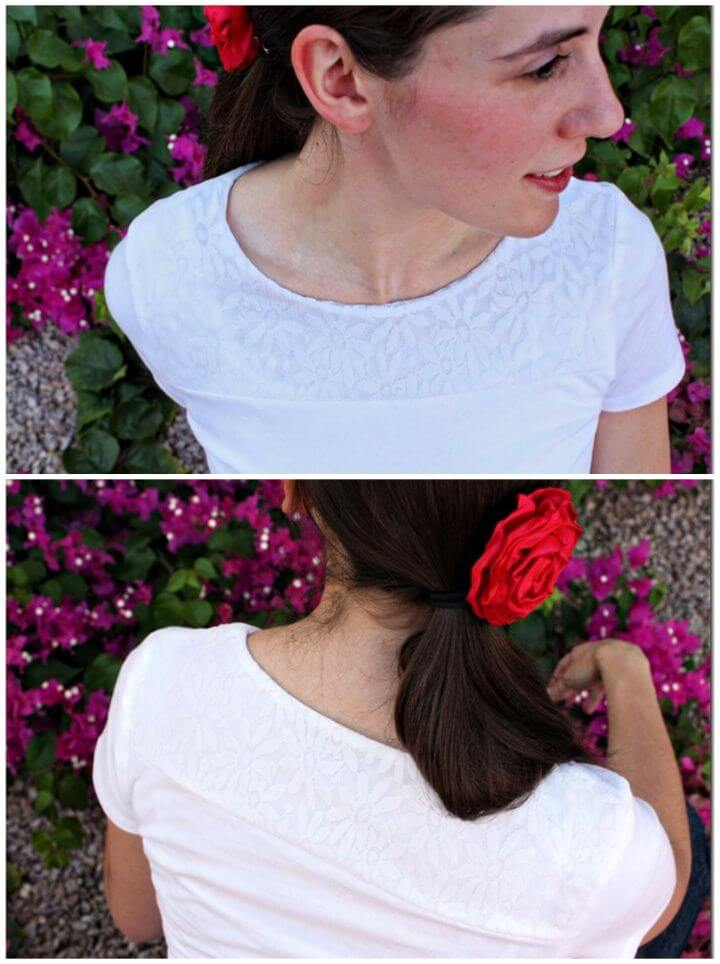 Lace T Shirt Refashion Tutorial