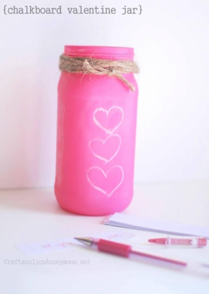 Last Minute Chalkboard Valentine Jar