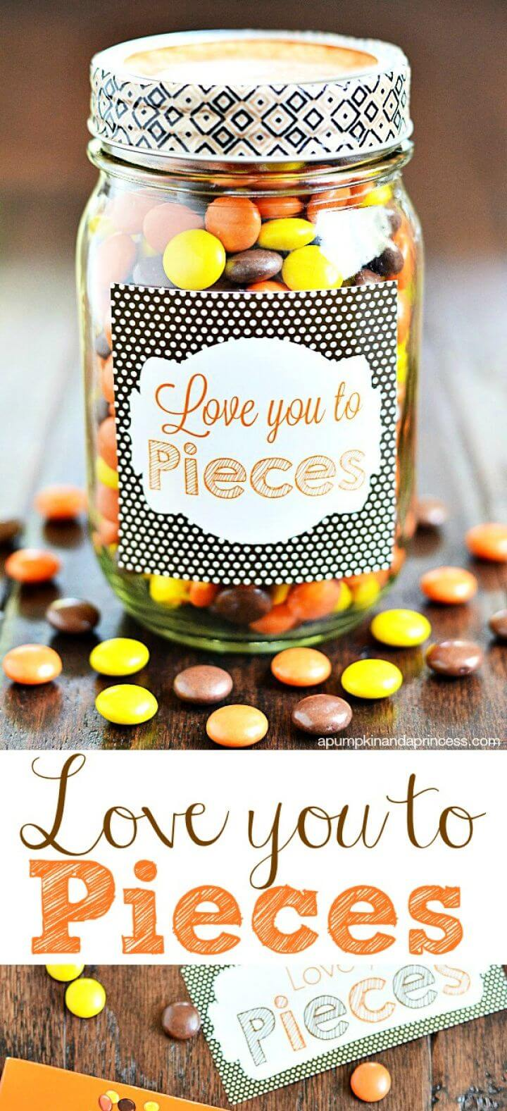 Love You To Pieces Sweets Jar
