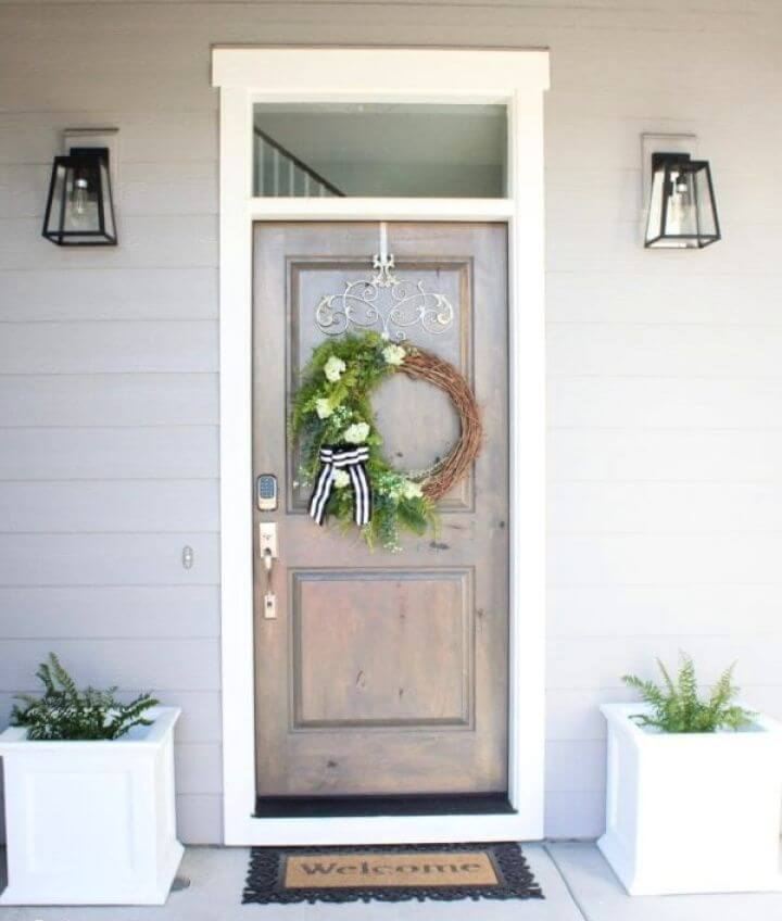 Lovely Green Asymmetrical Summer Wreath For Front Porch