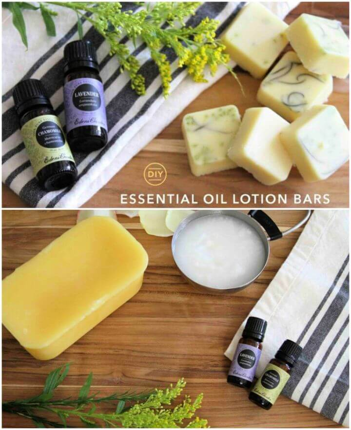 Make A DIY Essential Oil Lotion Bars