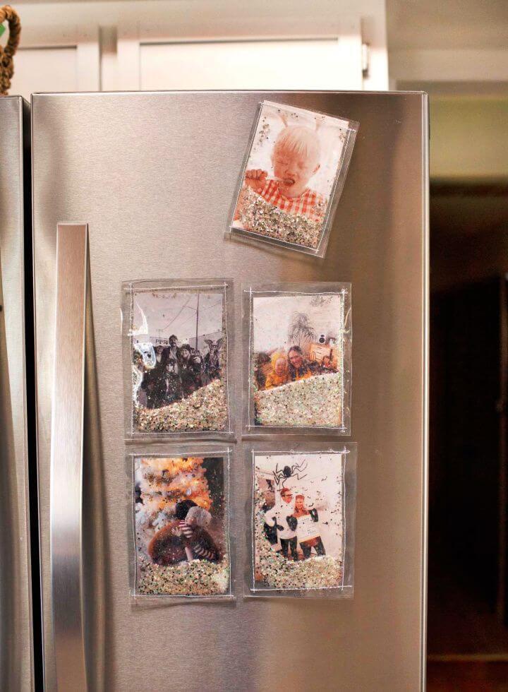 Make A DIY Glitter Photo Frames