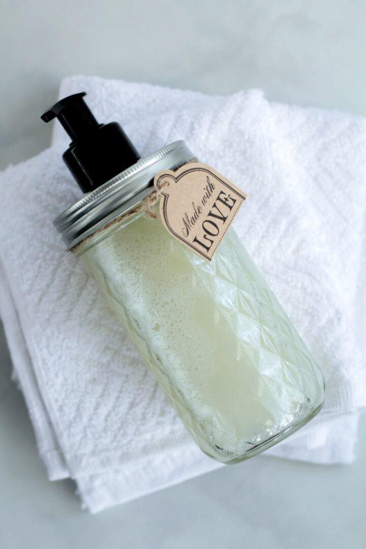 Make A DIY Homemade Liquid Hand Soap