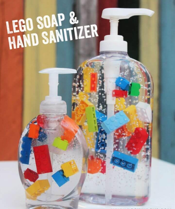 Make A DIY Lego Soap and Hand Sanitizer