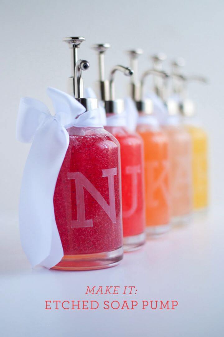 Make A DIY Monogram Soap Bottles