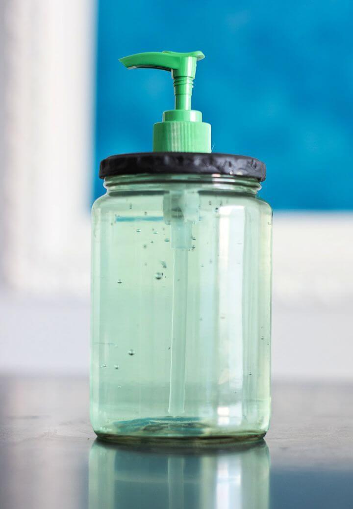 Make A DIY Pickle Jar Soap Dispenser