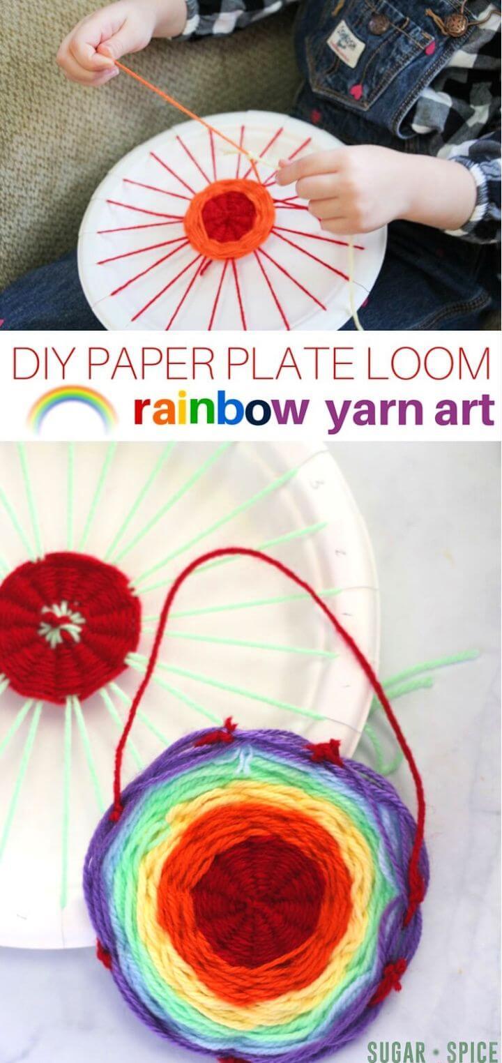 Make A DIY Rainbow Yarn Art