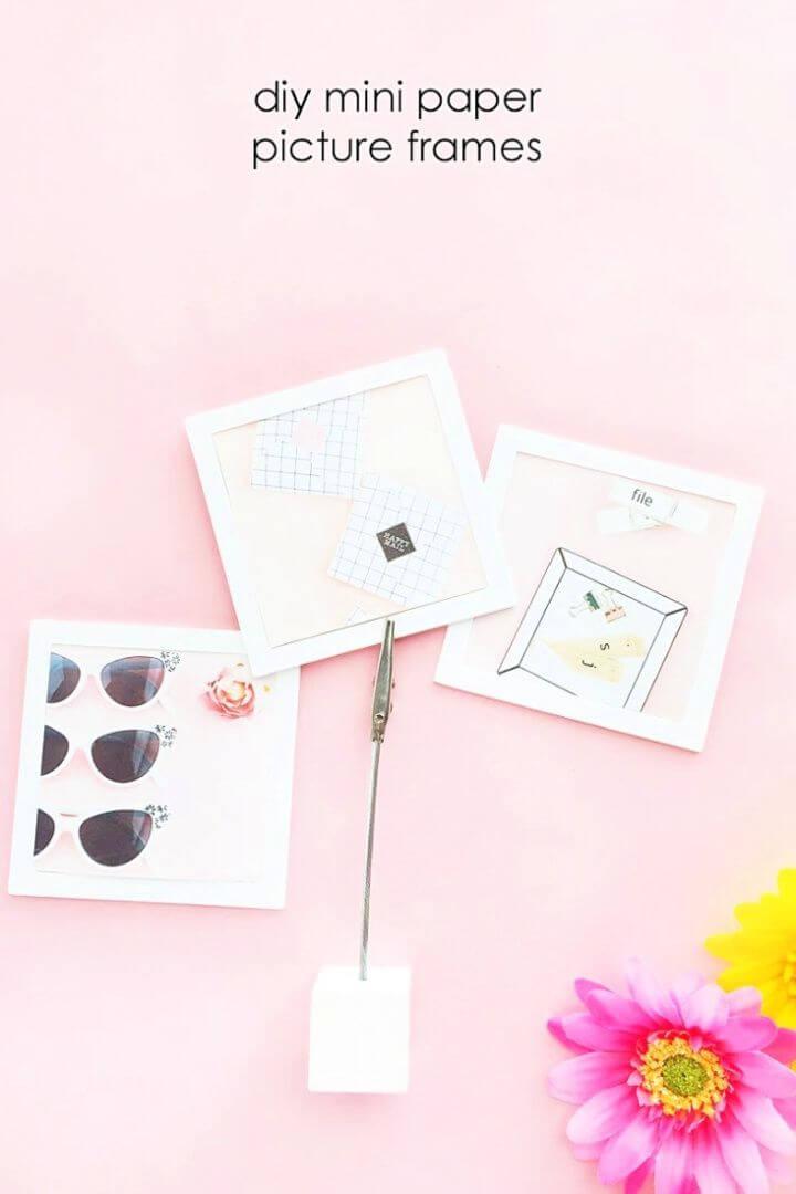 Make A Mini Picture Frames