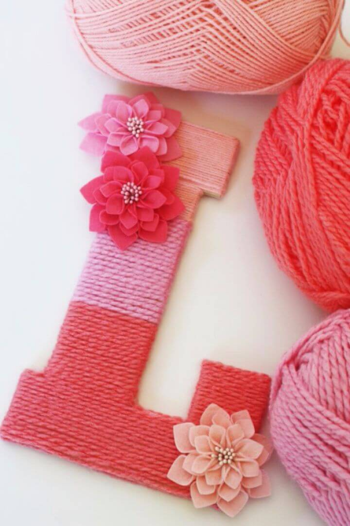 Make A Yarn Wrapped Ombre Monogrammed Letter