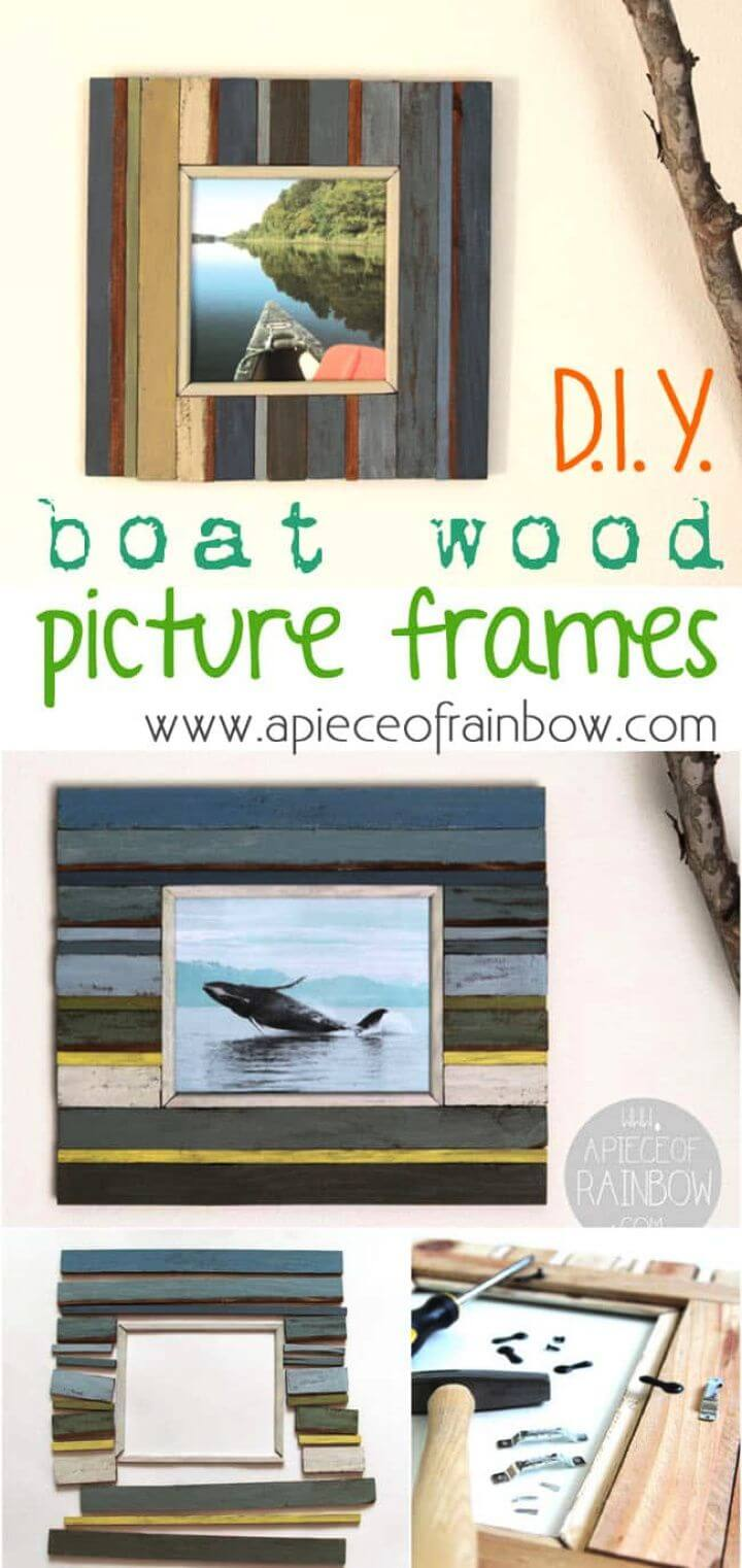 Make Beachy Style Picture Frames From Fence Wood