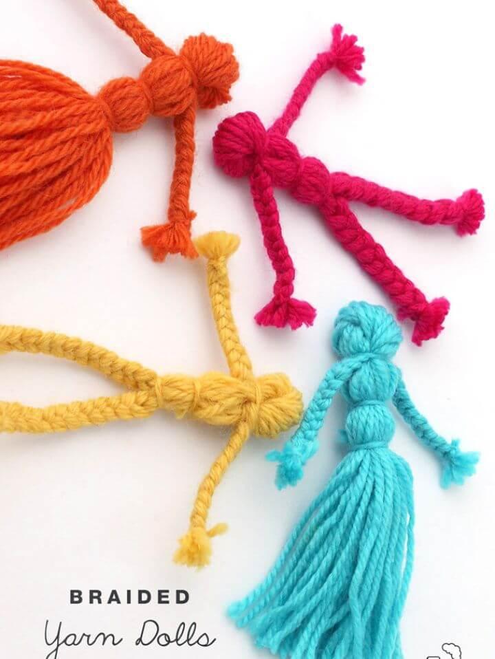 Make Braided Yarn Dolls