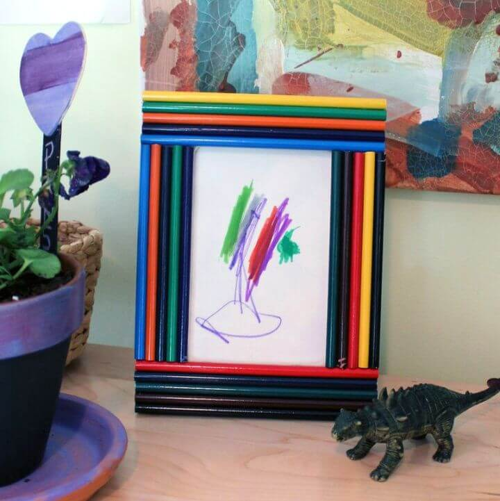 Making Colored Pencil Picture Frames