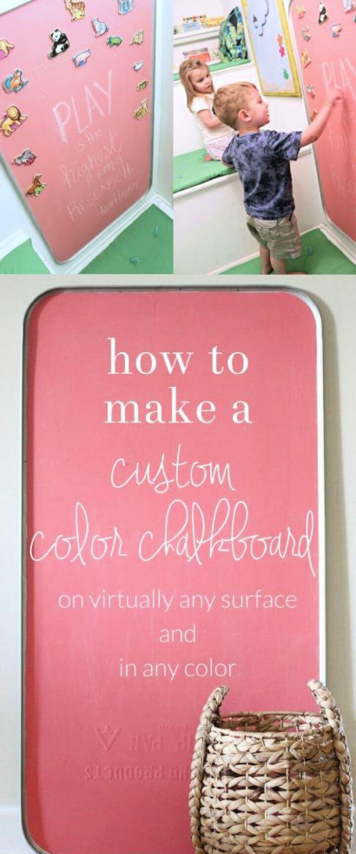 Making Custom Colored Chalkboard Paint