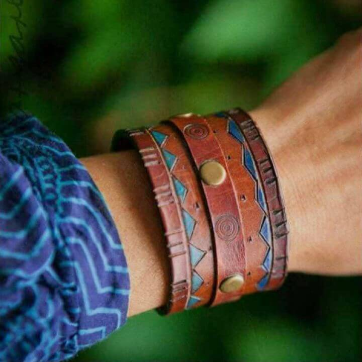 Making Leather Cuff Bracelets