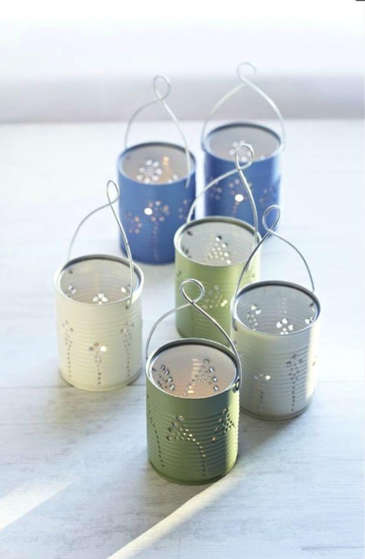Making Lights DIY Tin Can Lanterns